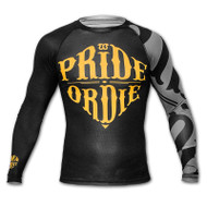 Pride or Die Reckless Mens Rash Guard Black