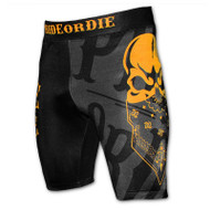 Pride or Die Reckless Mens Vale Tudo Shorts Black