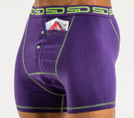 Smuggling Duds Original Mens Boxer Shorts Purple