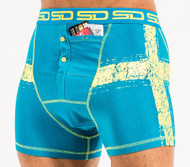 Smuggling Duds Swedish Mens Boxer Shorts Blue