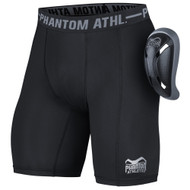 Phantom Vector Mens Compression Short with Cup Black