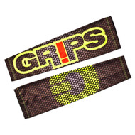 Grips Athletics Fluorescent Carbon Mens Rash Guard Sleeves Black/Yellow