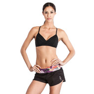 Grips Athletics Power Flower Functional Ladies Training Shorts Black