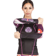 Grips Athletics Power Flower Long Sleeve Ladies Rash Guard Black