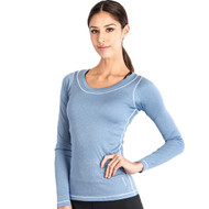 Grips Athletics Fitness Long Sleeve Ladies T Shirt Blue