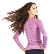 Grips Athletics Fitness Long Sleeve Ladies T Shirt Pink