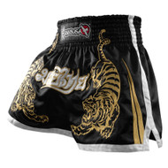 Hayabusa Premium Mens Muay Thai Shorts Black/Gold