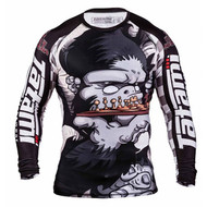Tatami Fightwear Chess Gorilla Long Sleeve Mens Rash Guard Black/White