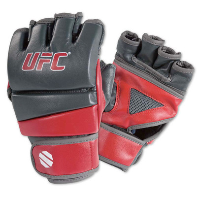 UFC Practice MMA Gloves Grey/Red
