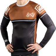Scramble v2.0 Ranked Rash Guard Brown