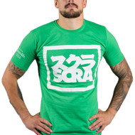Scramble Split Logo T Shirt Green