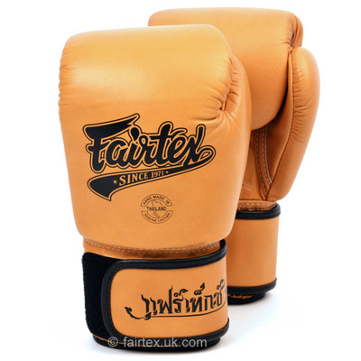 Fairtex BGV1-R Retro Boxing Gloves Brown