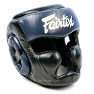 Fairtex HG13 Full Coverage Head Guard Black/Blue
