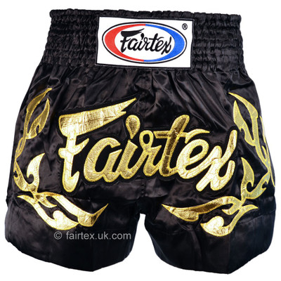 Fairtex Eternal Muay Thai Shorts Black/Gold