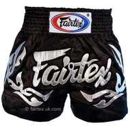 Fairtex Eternal Muay Thai Shorts Black/Silver