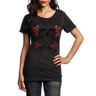 Affliction Ladies Deep Dreamers Short Sleeve T-Shirt