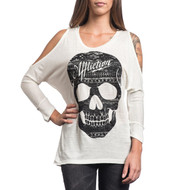 Affliction Ladies Starry Night 3/4 shoulder Top