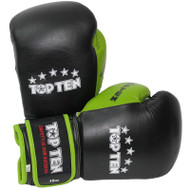 Top Ten Fight Boxing Glove 10oz Black/Green