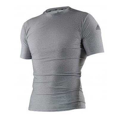 Adidas Compression Top Short Sleeve Grey