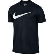 Nike Legend Mesh Swoosh T-Shirt Black