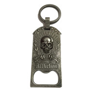 Affliction Skull Bottle Opener Keychain Pewter