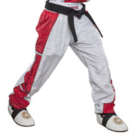 Top Ten Kickboxing Uniform Pants - White/Red