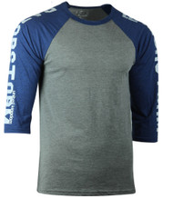 Razorstorm Athlete Raglan T-Shirt Grey/Navy