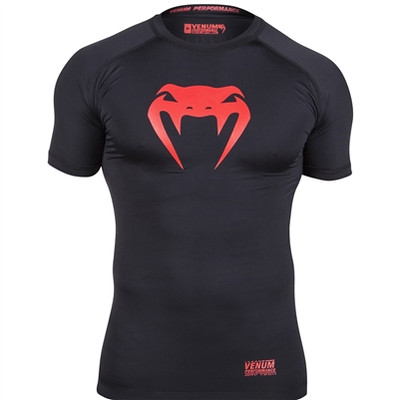 Venum Contender 2.0 Short Sleeve Rash Guard Black/Red