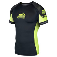 Phantom Athletics Storm Nitro Short Sleeve Rashguard Black/Neon