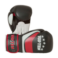Top Ten Stripe Boxing Gloves Black/Red