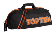 Top Ten Convertible Sports Bag/Backpack Black/Orange