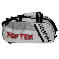 Top Ten Kickboxing Convertible Sport Bag/Backpack White