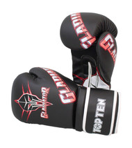 Top Ten Gladiator Boxing Gloves Black/Red