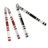 Bytomic Striped Chrome Competiton Nunchaku
