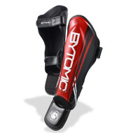 Bytomic Axis Shin Instep Guards Black/Red