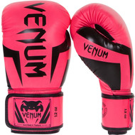 Venum Elite Neon Boxing Gloves Pink