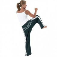 Bytomic Kickboxing Pants - White Stripe