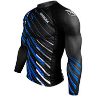 Hayabusa Metaru Charged Long Sleeve Rashguard Black/Blue