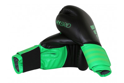 Adidas Hybrid 100 Boxing Gloves Black/Green