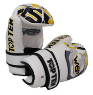 Top Ten Wasp Open Hand Gloves White/Yellow