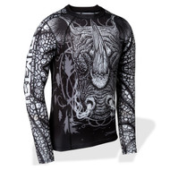 Fumetsu Rampage LS Rash Guard Black/White