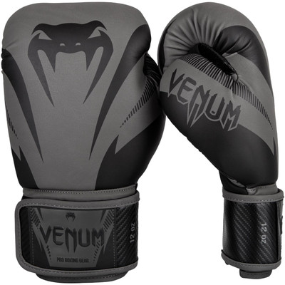 Venum Impact Boxing Gloves Grey/Black