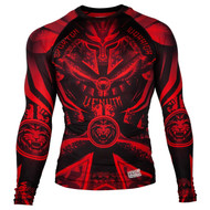 Venum Gladiator 3.0 Long Sleeve Rash Guard Black/Red