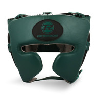 Ringside Stealth Leather Cheek Head Guard Emerald Green