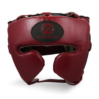 Ringside Stealth Leather Cheek Head Guard Maroon Red