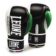 Leone 1947 Contender Boxing Gloves Black 16oz