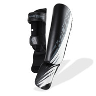 PunchTown Kruris eX MKII Shin Guards Black/White