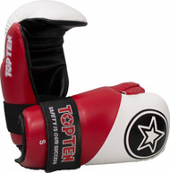 Top Ten 3 Tone Star Fight Pointfighter Gloves White/Red/Black