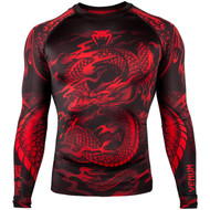 Venum Dragon's Flight Long Sleeve Rash Guard Black/Red