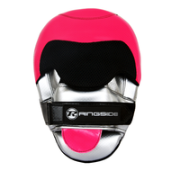 Ringside PU Focus Mitts Pink/Silver